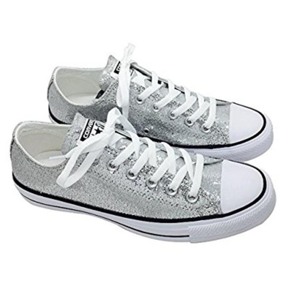 Converse Schuhes Niedrig   Nwt Silver Niedrig Schuhes Tops  Herren 11Damenss 13   Poshmark 2957f4